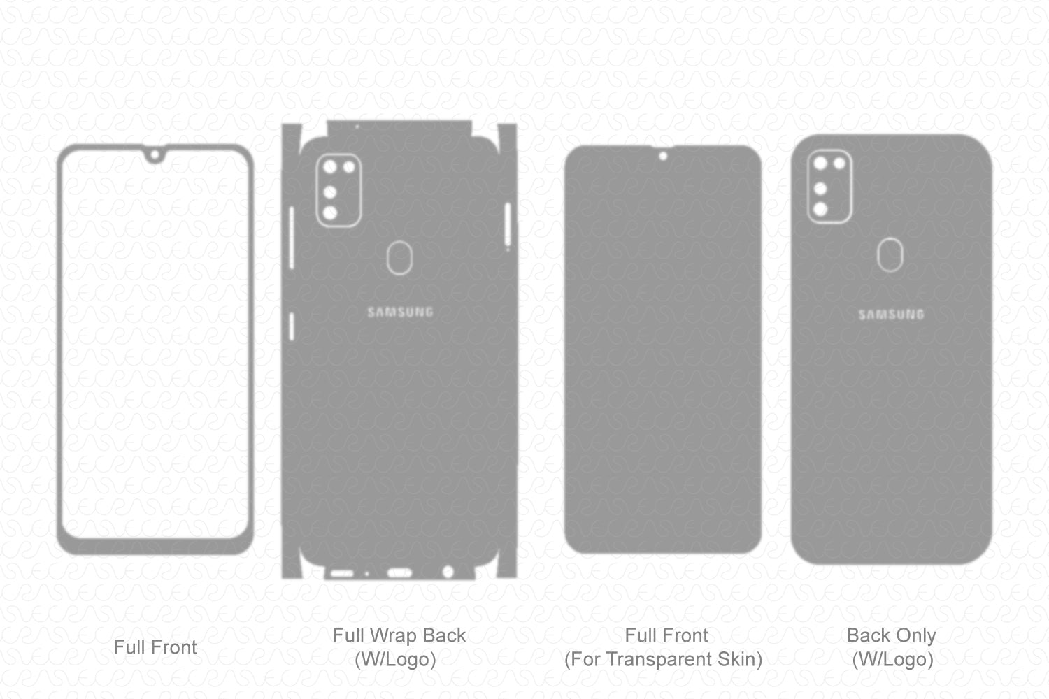 Galaxy M30s (2019) Skin Template Vector