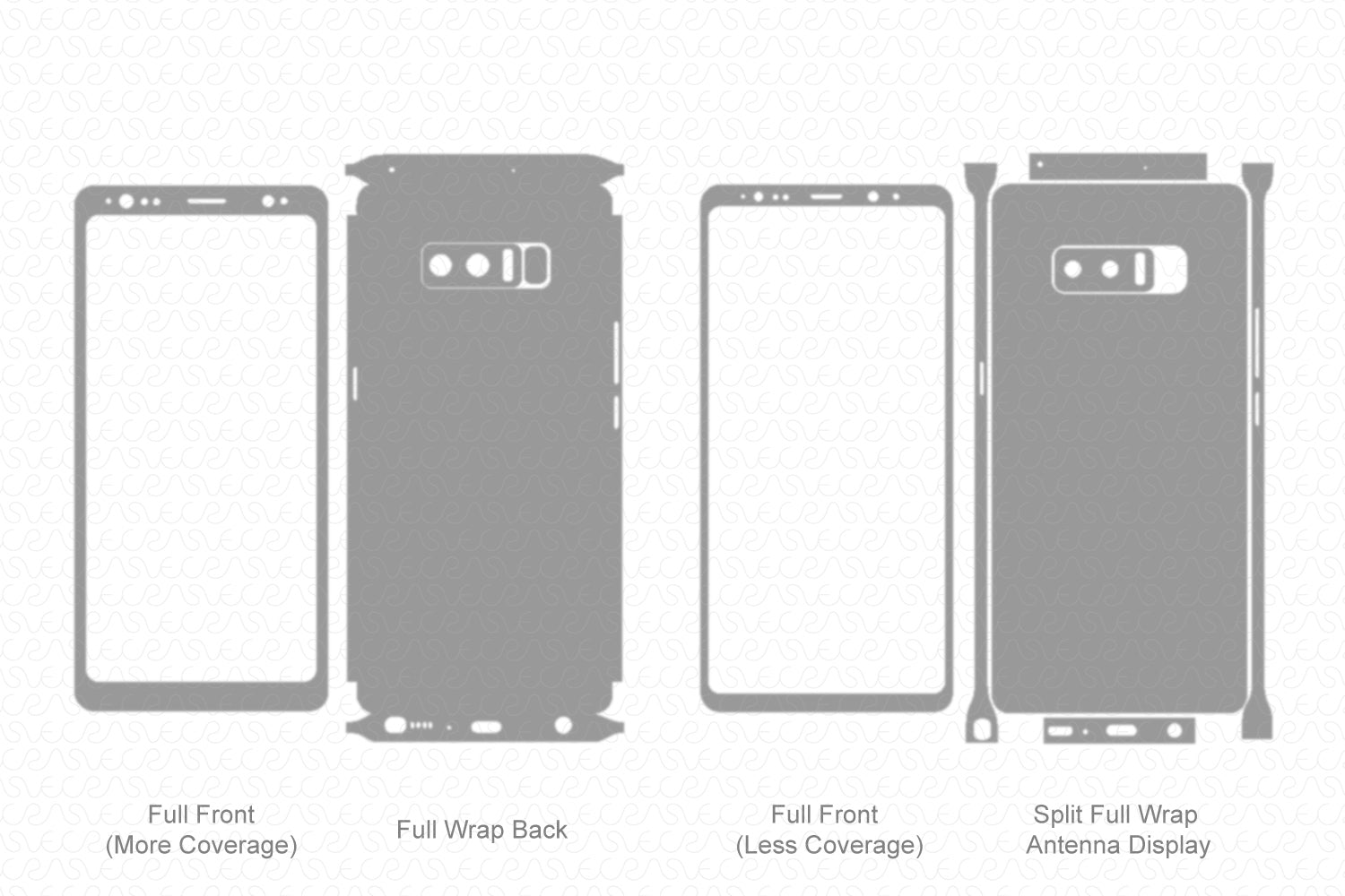 Galaxy Note 8 (2017) Skin Template Vector