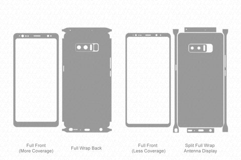Samsung Galaxy Note 8 Skin Template Vector 2017