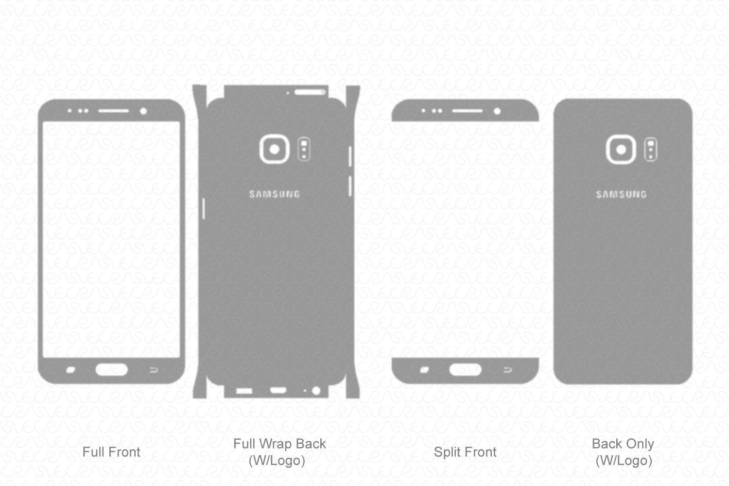 Samsung Galaxy S6 Edge Plus Skin Template Vector 2015