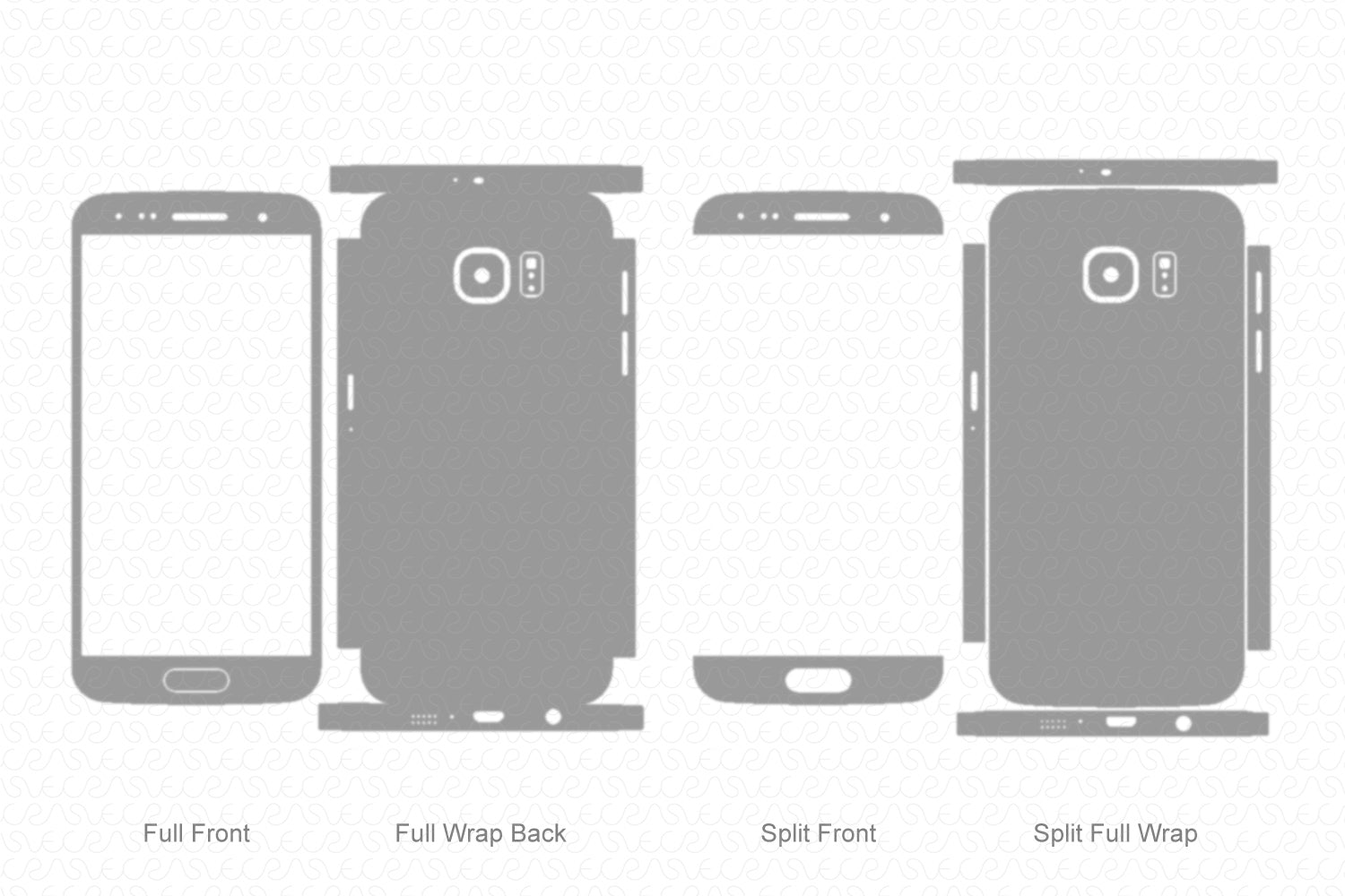 Galaxy S6 (2015) Skin Template Vector