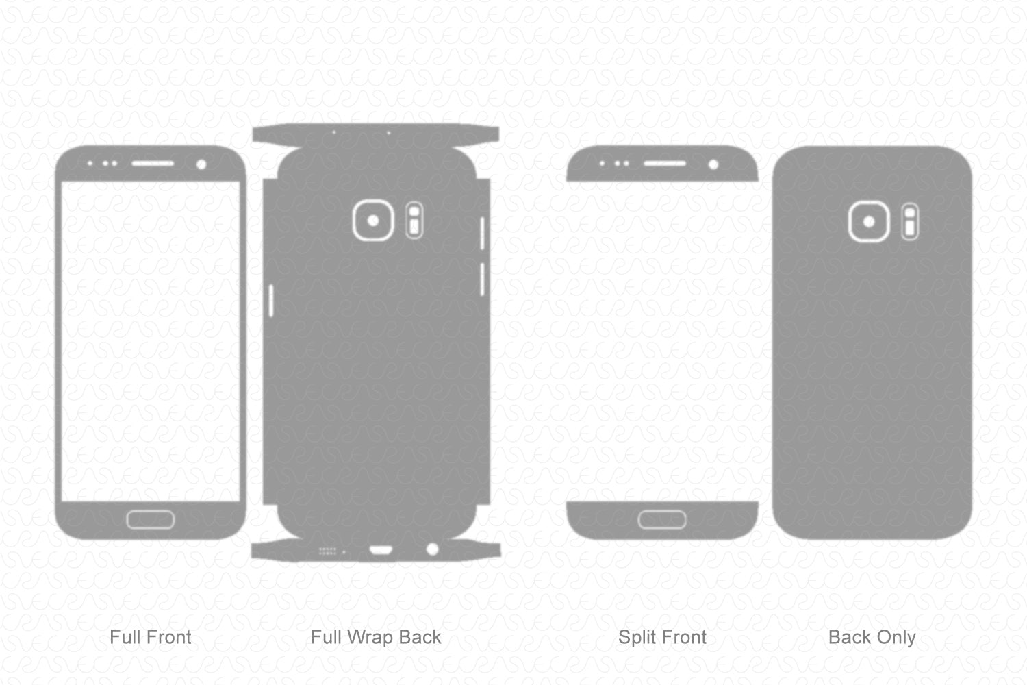 Galaxy S7 (2016) Skin Template Vector