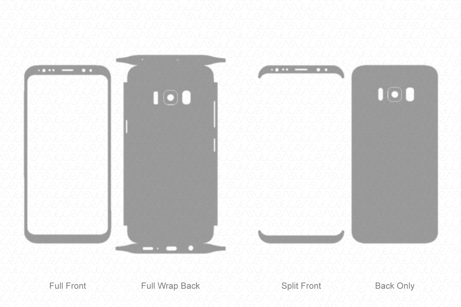 Galaxy S8 Plus (2017) Skin Template Vector