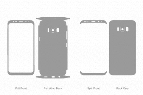 Samsung Galaxy S8 Plus Skin Template Vector 2017