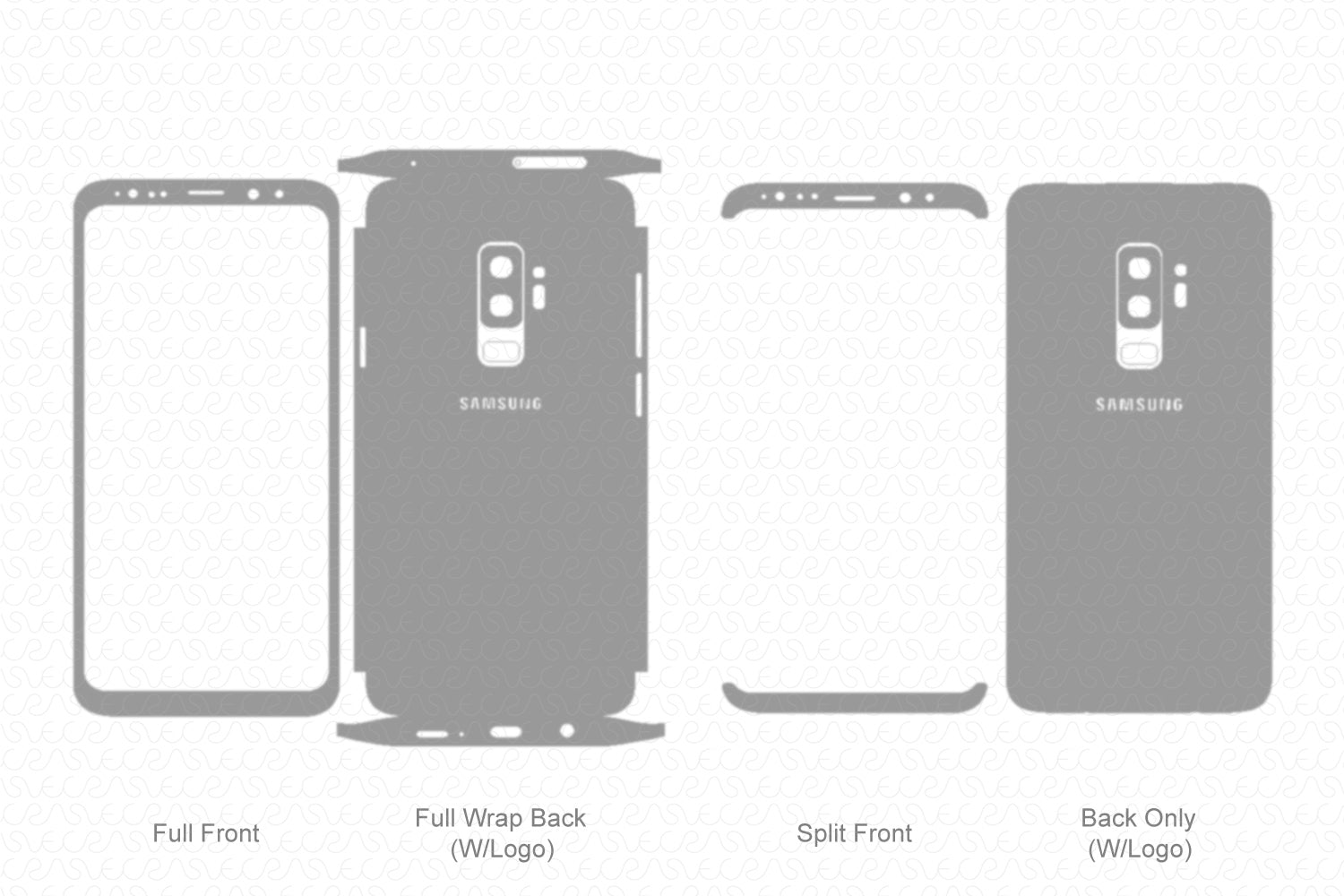 Galaxy S9 Plus (2018) Skin Template Vector