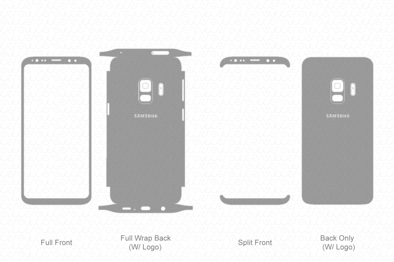 Galaxy S9 (2018) Skin Template Vector