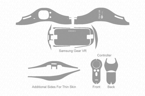 Samsung Gear VR (2015) Skin Cutting Template