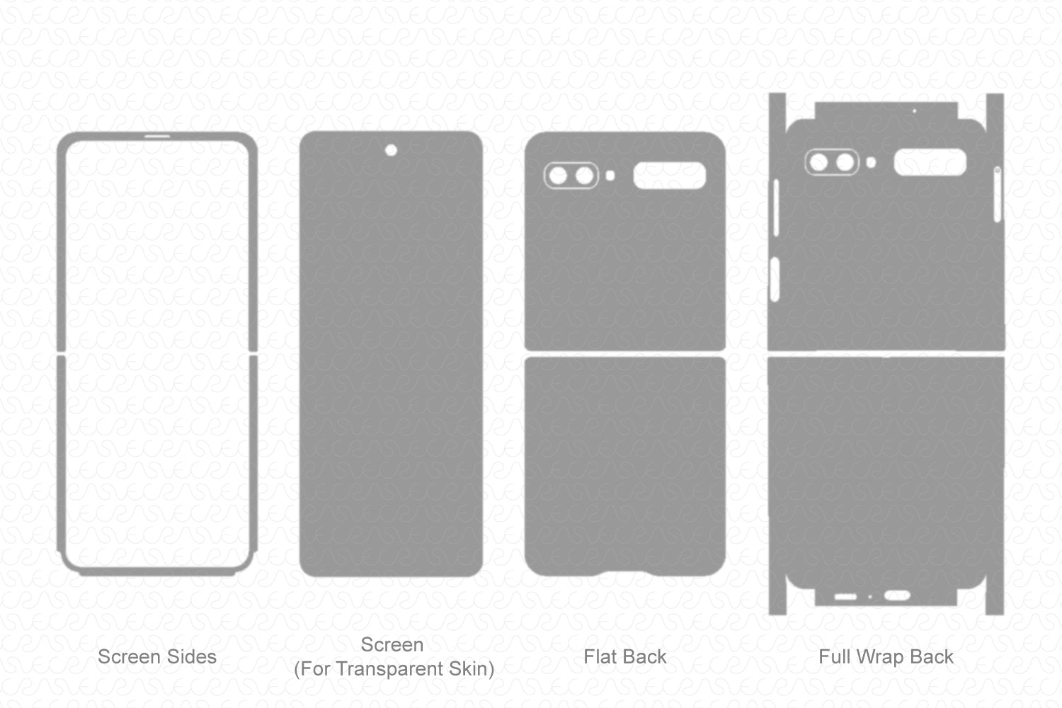 Galaxy Z Flip 2020 Skin Template Vector