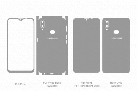 Galaxy A10s (2019) Skin Template Vector