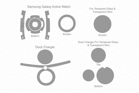 Samsung Galaxy Watch Active 2019 Skin Cutting Template