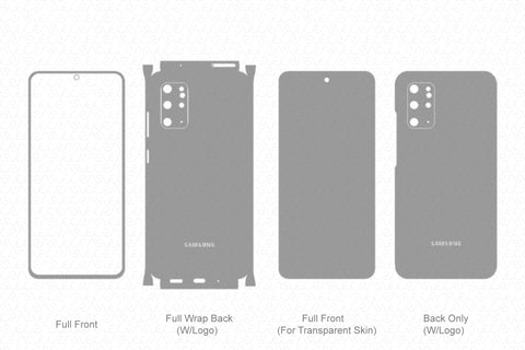 Galaxy S20+ (2020) Skin Template Vector