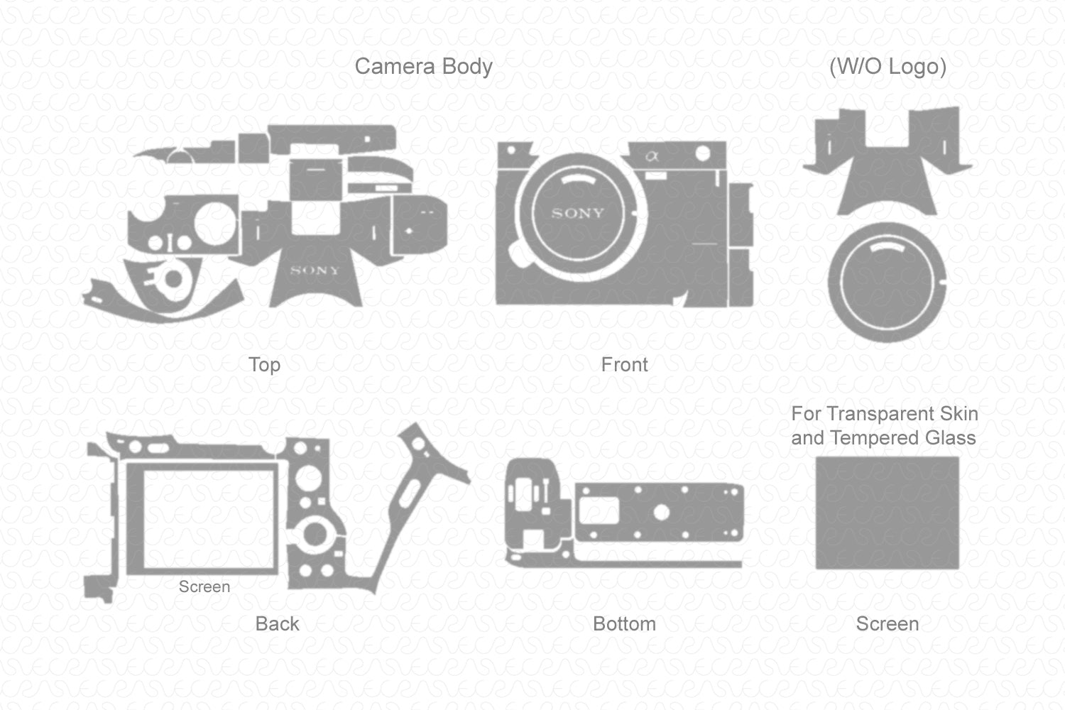 Sony Alpha A7 III Mirrorless Digital Camera (2018) Skin Vector Template