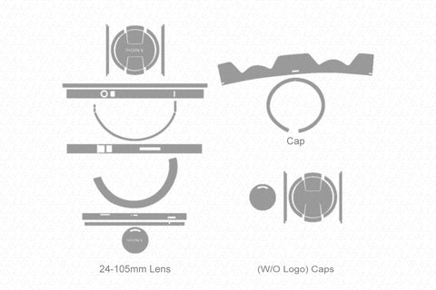 Sony Alpha FE 24-105mm F4 G OSS Lens (2017) Skin Vector Template