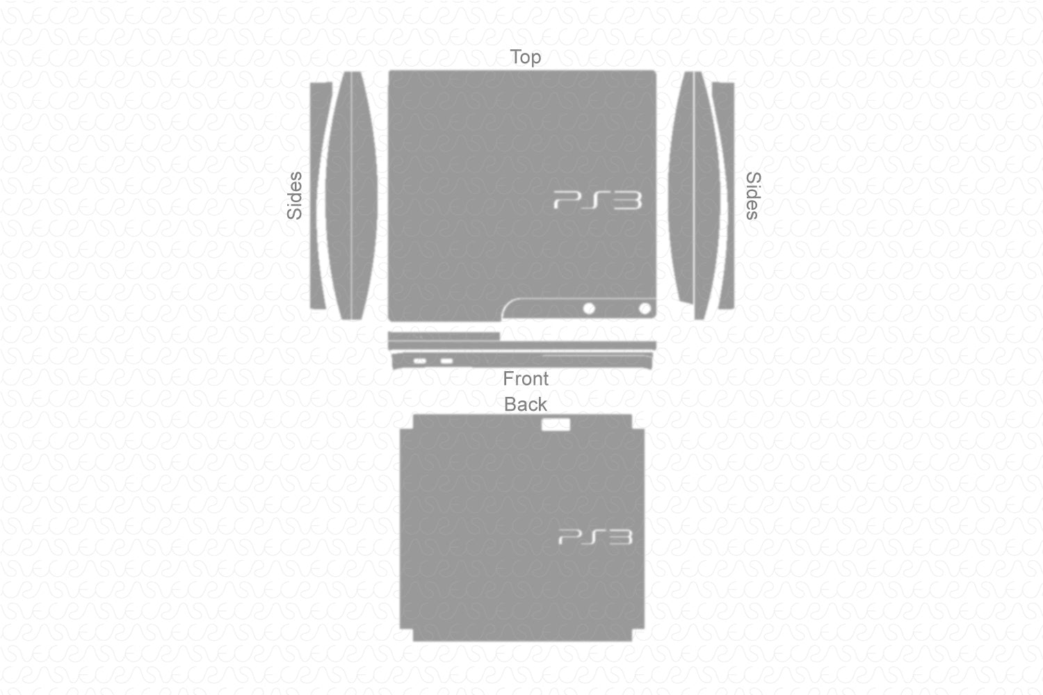 Sony PS3 Slim Gaming Console (2012) Vector Cut File Template