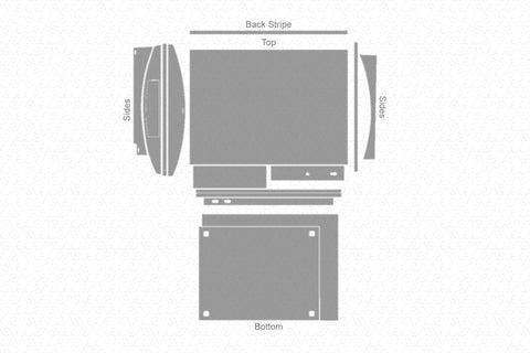Sony PS3 Gaming Console (2006) Vector Cut File Template