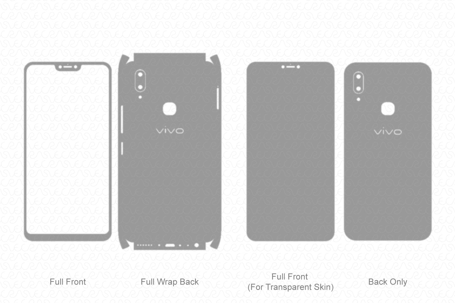 Vivo V9 Youth (2018) Skin Template Vector