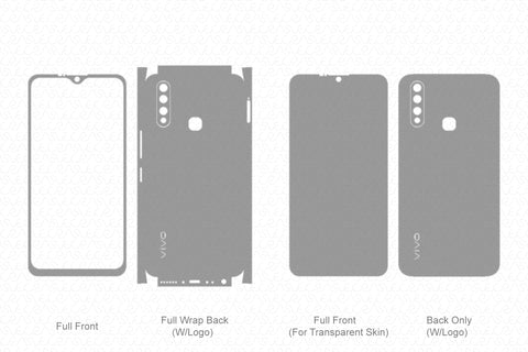 Vivo Y19 (2019) Skin Template Vector