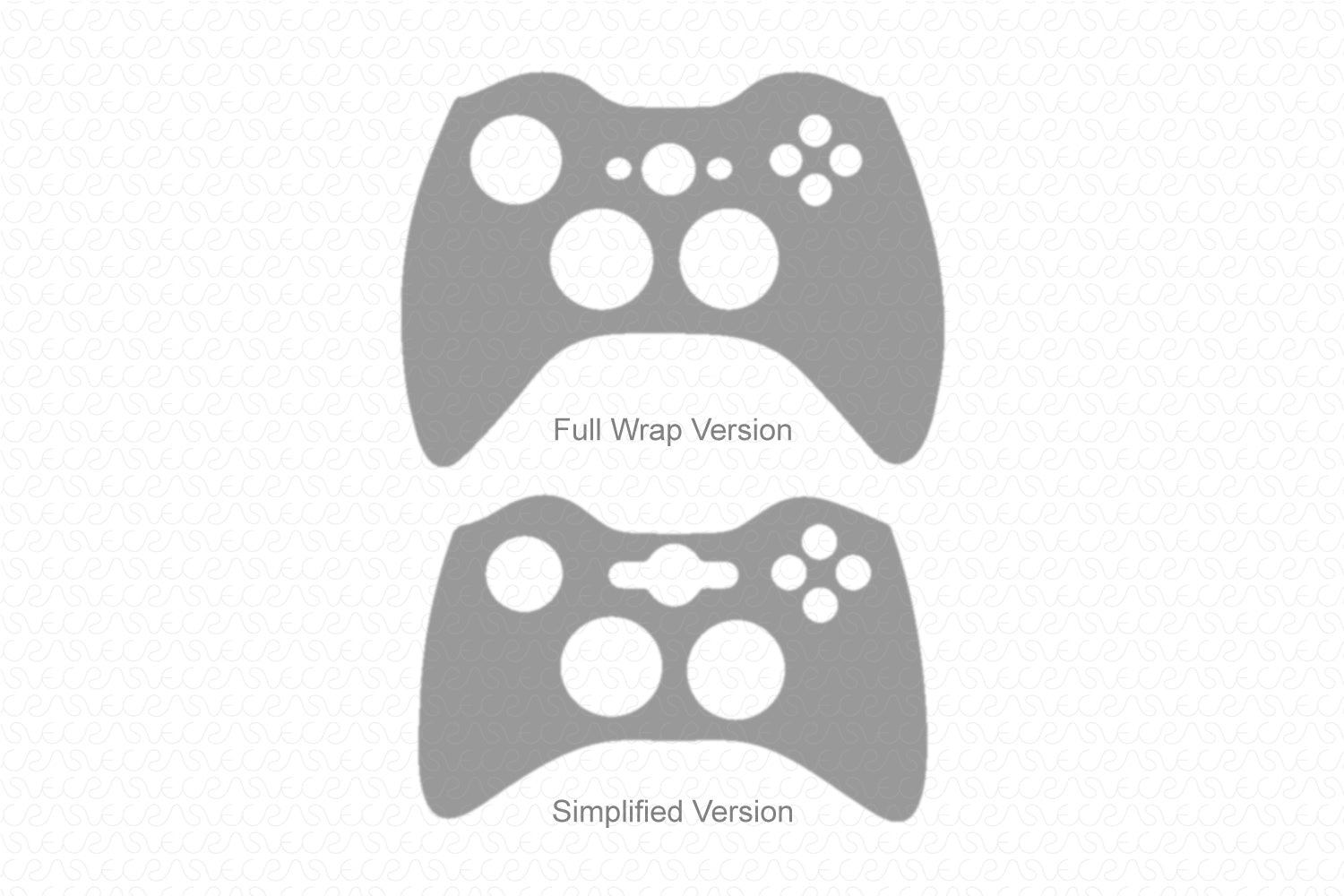 Xbox 360 Gaming Controller (2005-2014) Vector Cut File Template