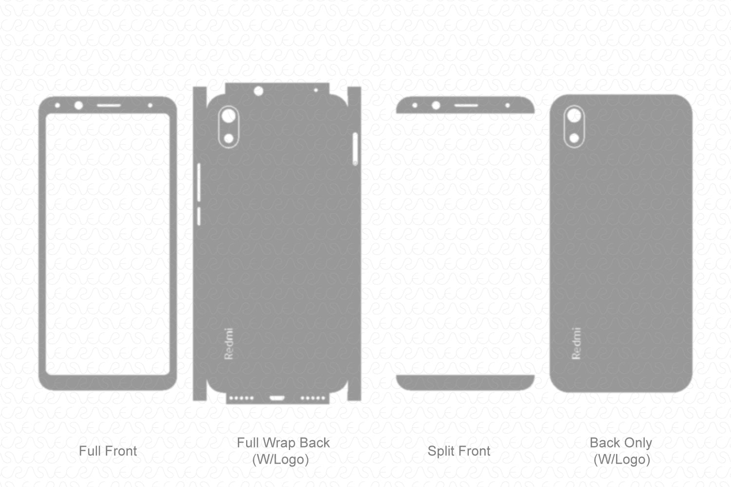 Redmi 7A (2019) Skin Template Vector