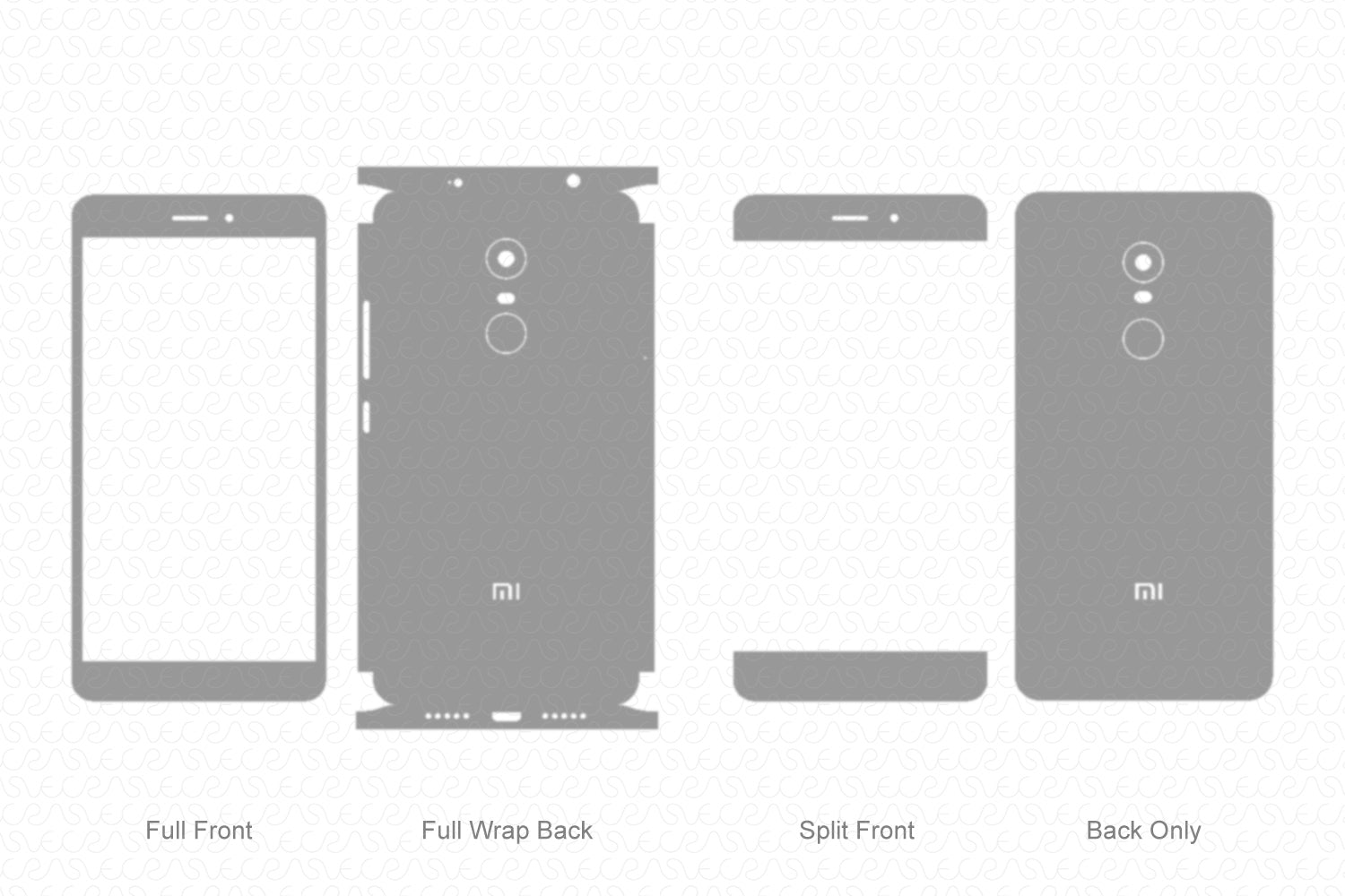 Redmi Note 4 (2017) Skin Template Vector