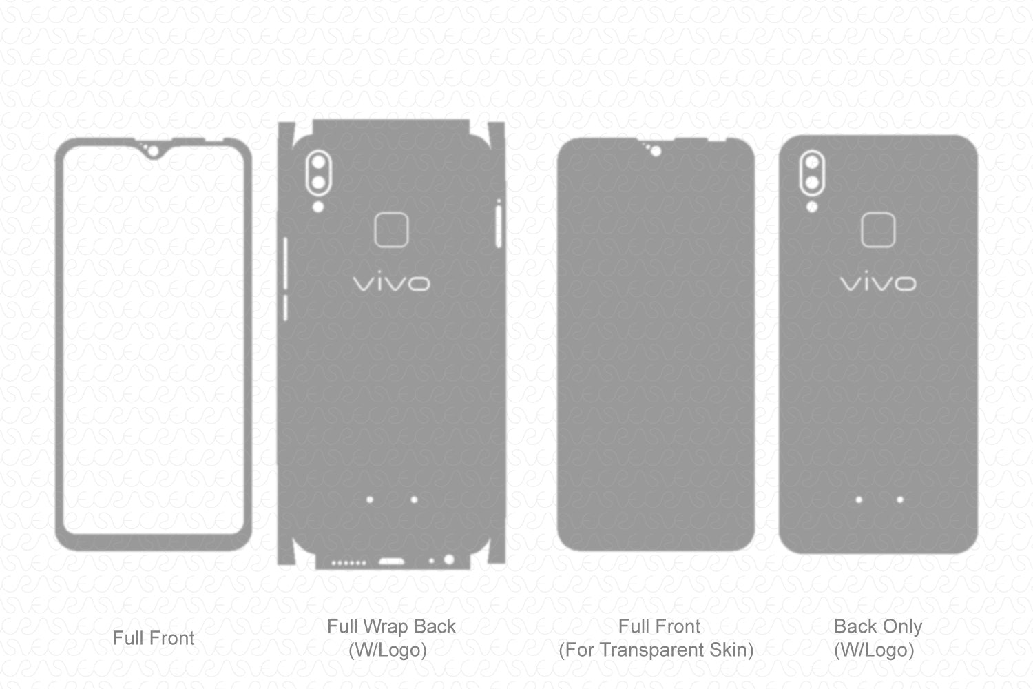 Vivo Y95 (2018) Skin Template Vector
