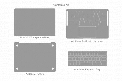 "MacBook Pro 13"" Non-TouchBar (2016-17) Skin Template Cut File"