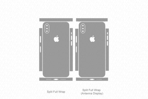 iPhone X (2017) Skin Template Vector