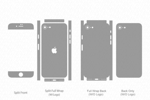 iPhone SE (2020) Skin Template Vector