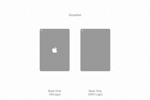 iPad Air (2019) Vector Cutline Template