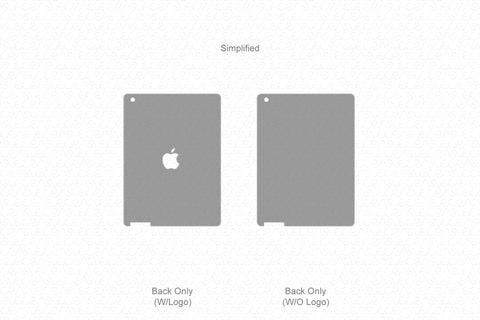 iPad 4 (2012) Vector Cutline Template
