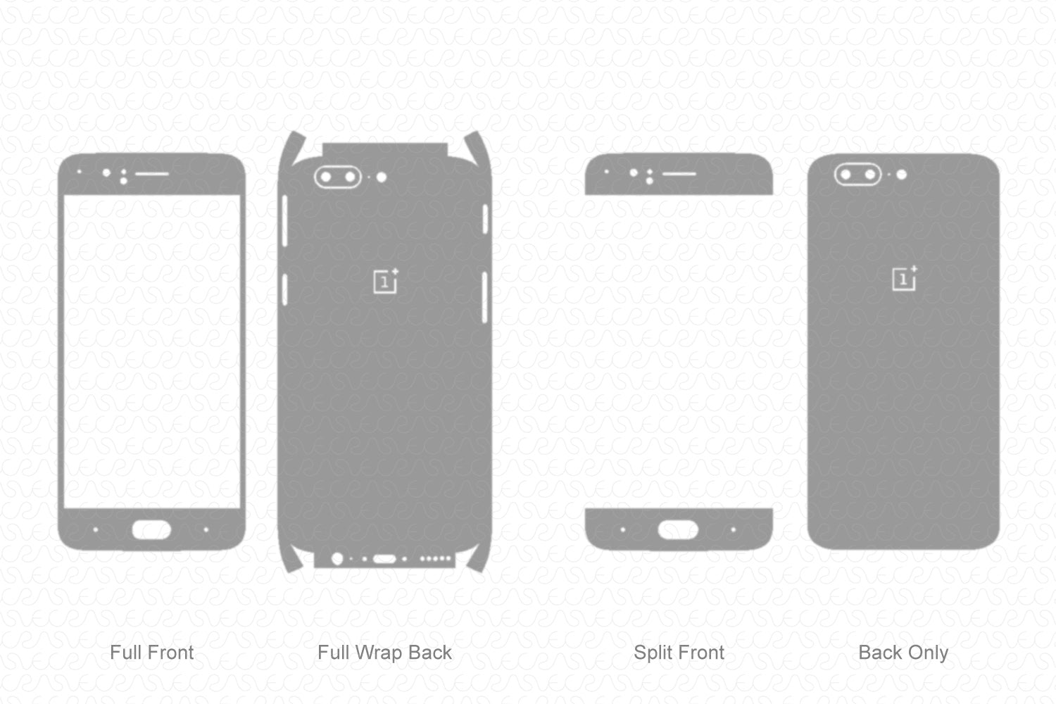 OnePlus 5 (2017) Skin Template Vector