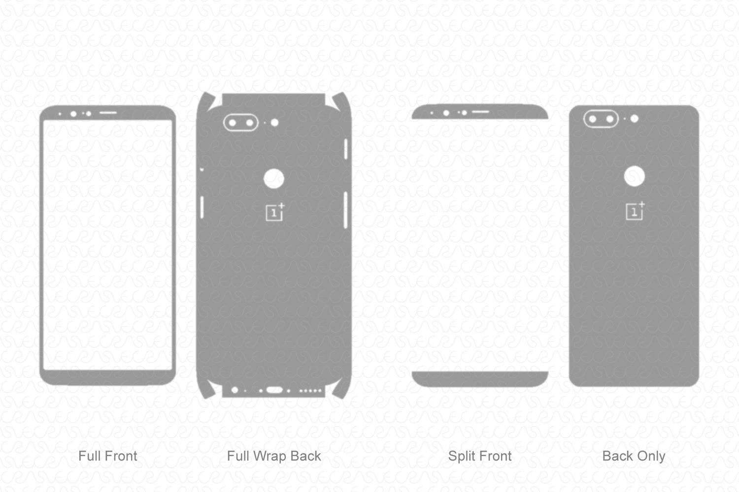 OnePlus 5T (2017) Skin Template Vector