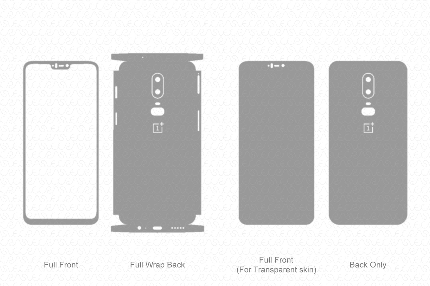 OnePlus 6 (2018) Skin Template Vector