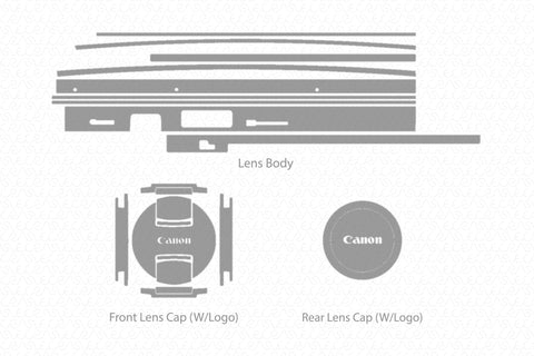 Canon EF 85mm F-1.8 USM Lens Skin Vector Template
