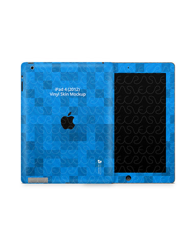 iPad 4 Vinyl Skin Design Template 2012