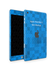 Apple iPad Mini 2 Tablet Skin Design Template (Front-Back Angled)