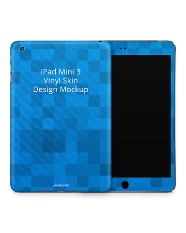 Apple iPad Mini 3 Tablet Vinyl Skin Design Template