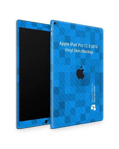Apple iPad Pro (12.9) 2016 Tablet Skin Design Template (Front-Back Angled)