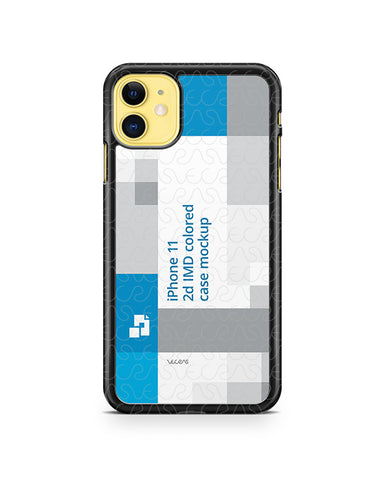 iPhone 11 (2019) 2d PC Colored Case Design Mockup