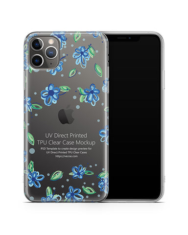 iPhone 11 Pro Max (2019) TPU Clear Case Mockup