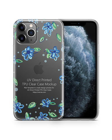 iPhone 11 Pro (2019) TPU Clear Case Mockup