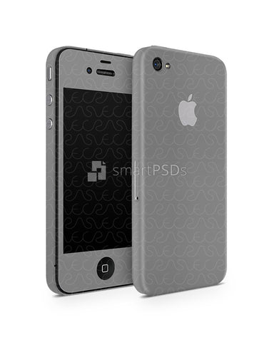 Apple iPhone 4 Vinyl Skin Design Mockup 2010(Front-Back Angled)