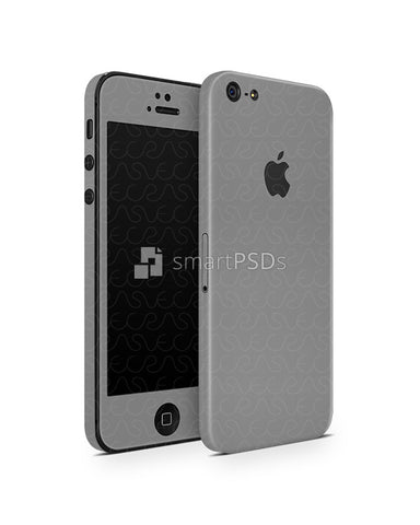Apple iPhone 5 Vinyl Skin Design Mockup 2012 (Front-Back Angled)