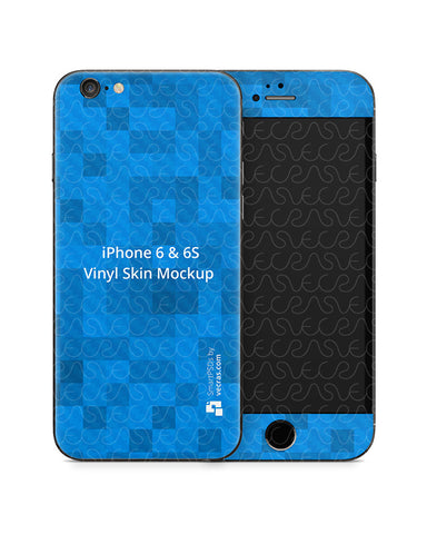 Apple iPhone 6-6s Mobile Skin Design Mockup Template
