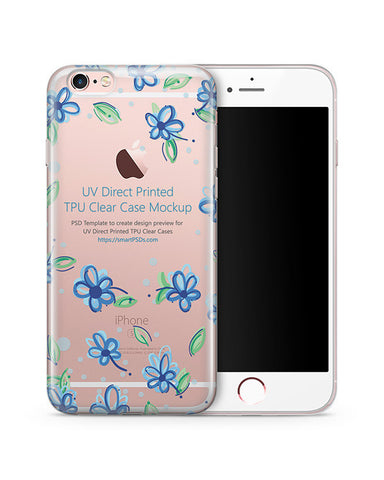 Apple iPhone 6-6S UV TPU Clear Mobile Case Design Mockup 2015