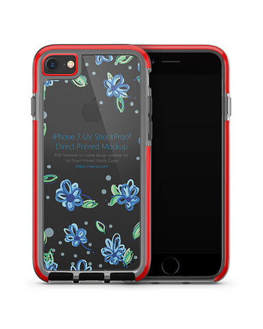Apple iPhone 7 UV Shockproof Hybrid Case Mockup 2016