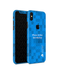 Apple iPhone Xs Max Vinyl Skin Design Mockup (Front-Back Angled)
