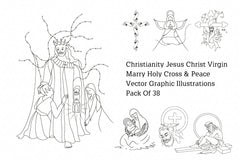 Christianity Jesus Christ Virgin Marry Holy Cross & Peace