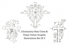 Christianity Holy Cross & Peace Vector Graphic Illustration