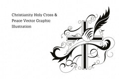 Christianity Jesus Prayer Vector Graphic Illustrations Set Of 2